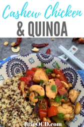 cashew chicken and quinoa