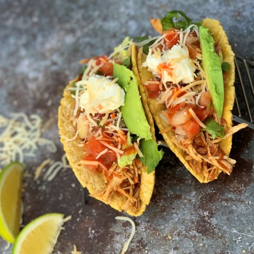 instant pot shredded chicken tacos