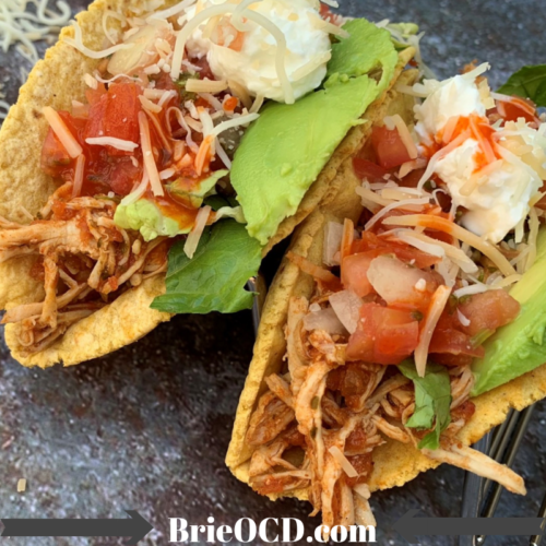 shredded chicken tacos bowls