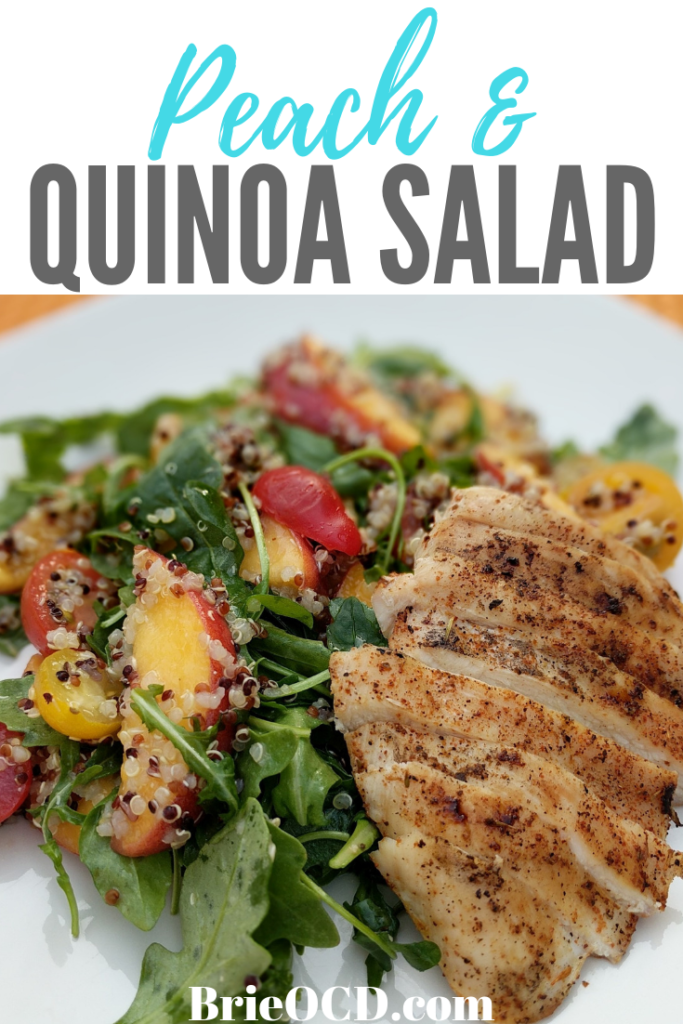 peach quinoa salad w. grilled chicken 1