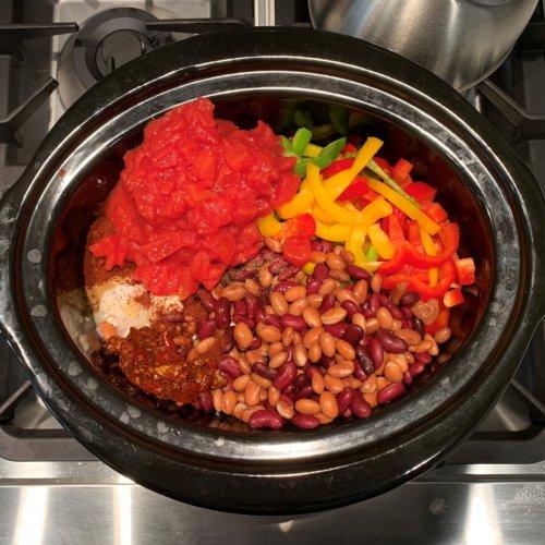 chicken fajita chili add all ingredients to crockpot