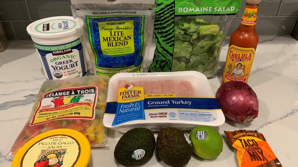 10 minute taco salad ingredients