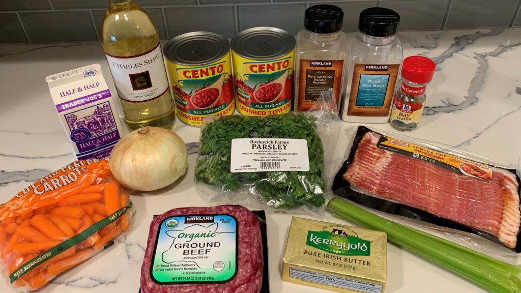ip bolognese ingredients