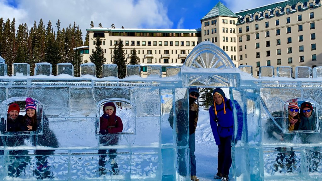 lake louise ice festival wide