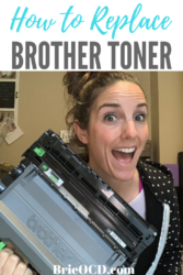 replace brother toner cartridge
