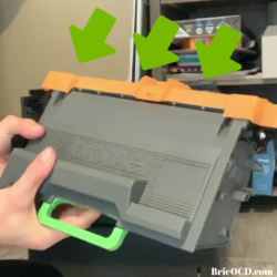 step 4 open new toner and remove safety