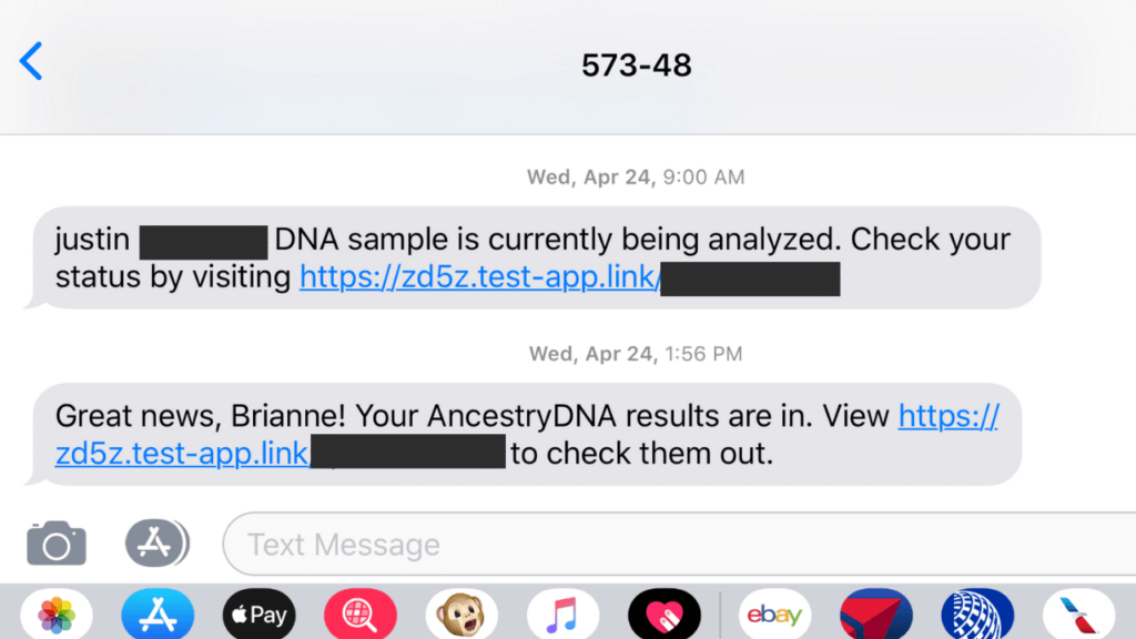 ancestryDNA text updates