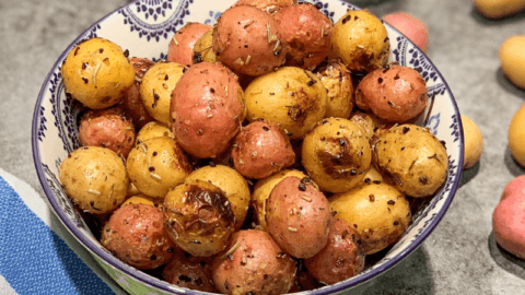 Grilled Rosemary & Garlic Baby Potatoes