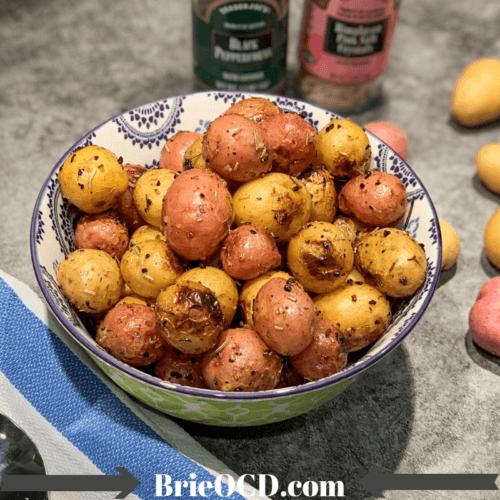 grilled rosemary garlic baby potatoes