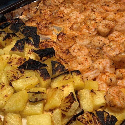 cooked shrimp pineapple