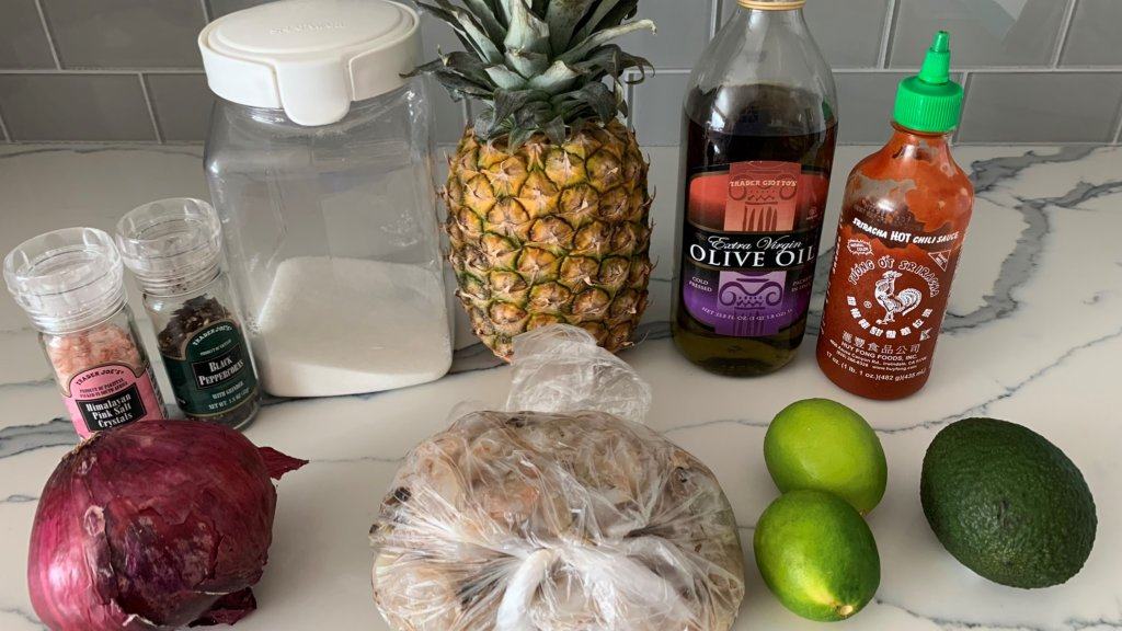 shrimp pineapple bowl ingredients widescreen