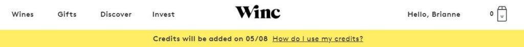 Winc renewal banner